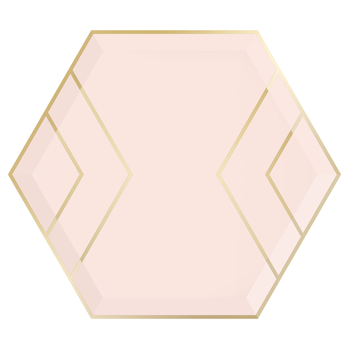 Blush & Gold Large Plate