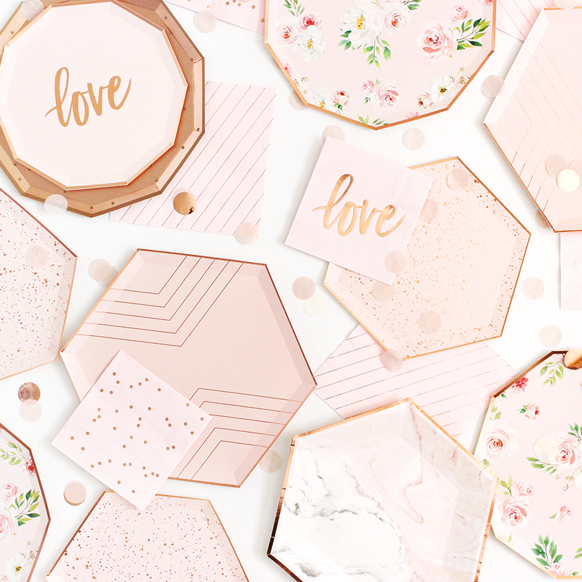Blush & Rose Gold Large Plate