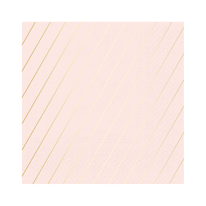 blush pink and gold foil stripe napkins perfect for baby shower, bridal, princess party, birthdays and more