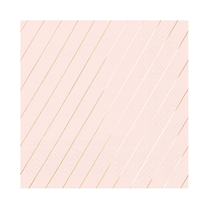 Blush & Rose Gold Stripe Napkin
