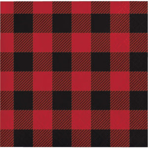 Red & Black Buffalo Plaid Napkins