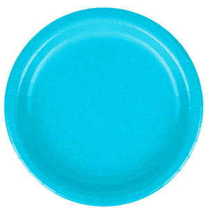 Aqua Blue Solid Paper Plate | 10.5 inch Paper Plate | Solid Party Supplies