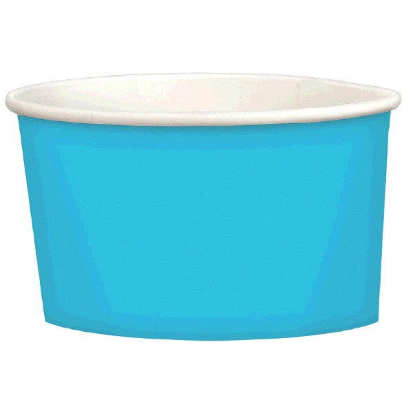 caribbean blue solid color snack or treat cup | solid party supplies
