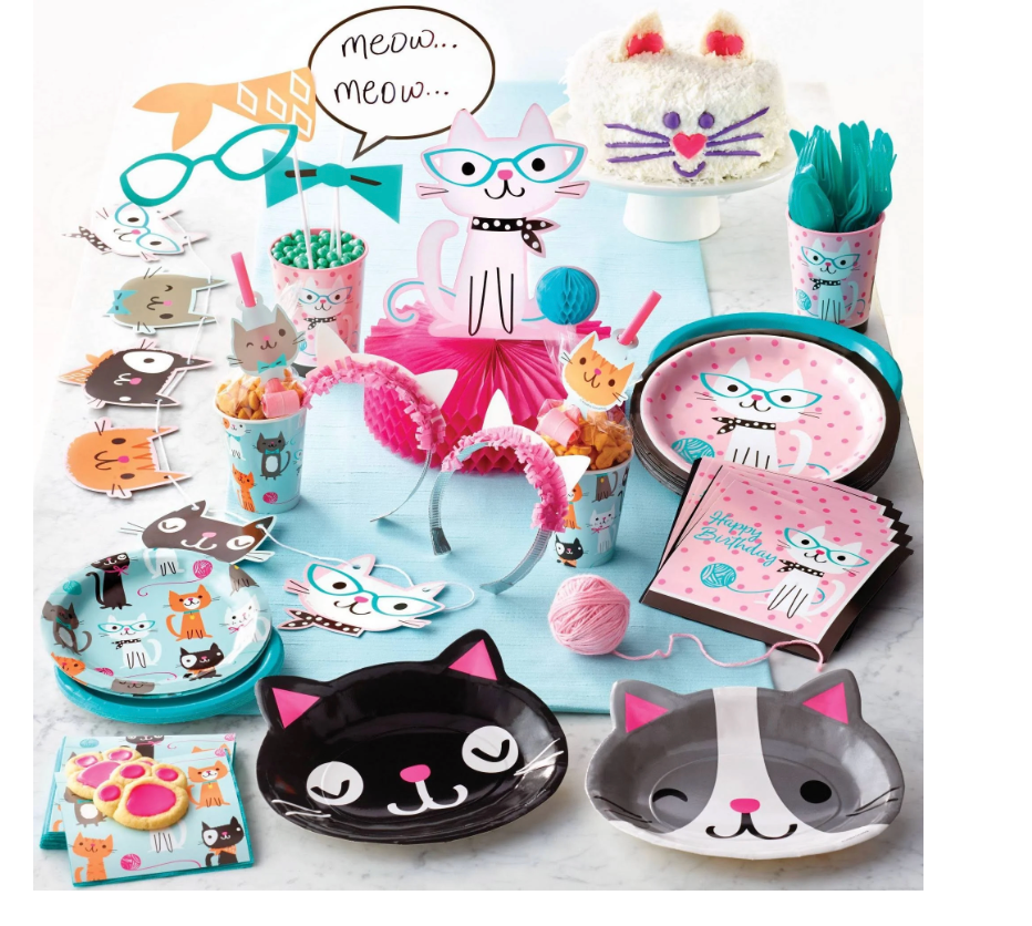 Cat Party Plates