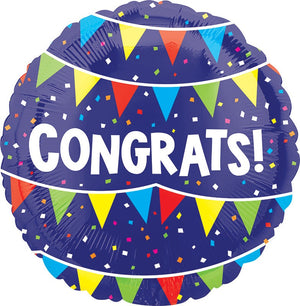 "18"" Congrats Flags Balloon"