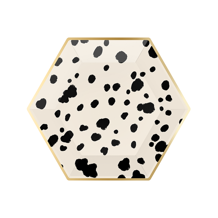 Black & White Dalmatian Print Plates | Puppy Themed Party Supplies
