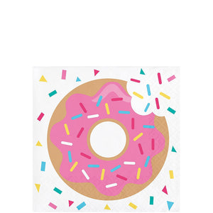Colorful Sprinkle Donut Party Beverage Napkin