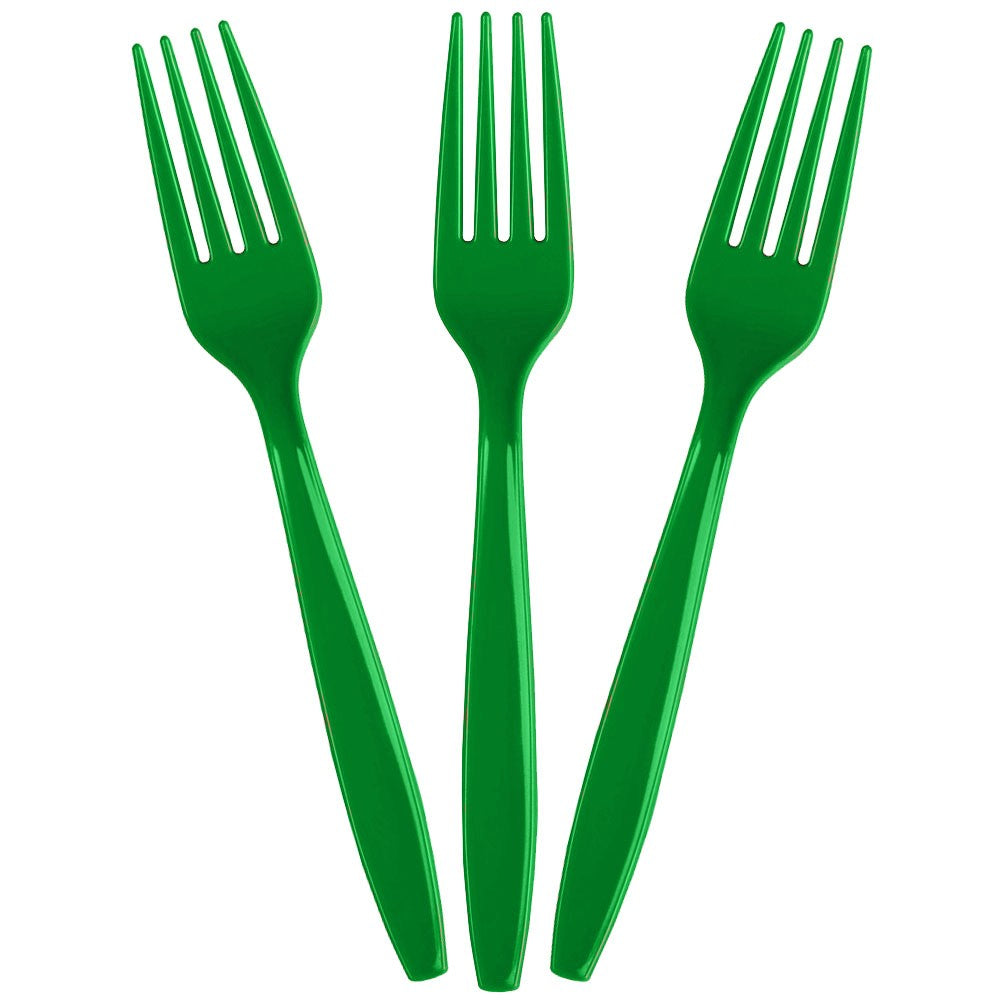 Solid Green Forks