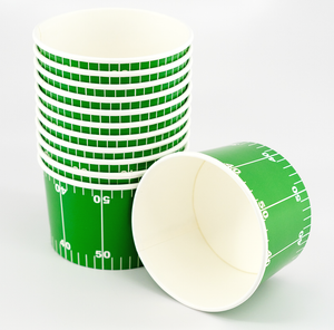 green football yard design these paper cups make a great snack dish