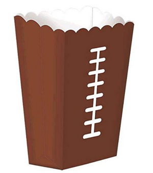 Football Snack Popcorn Boxes