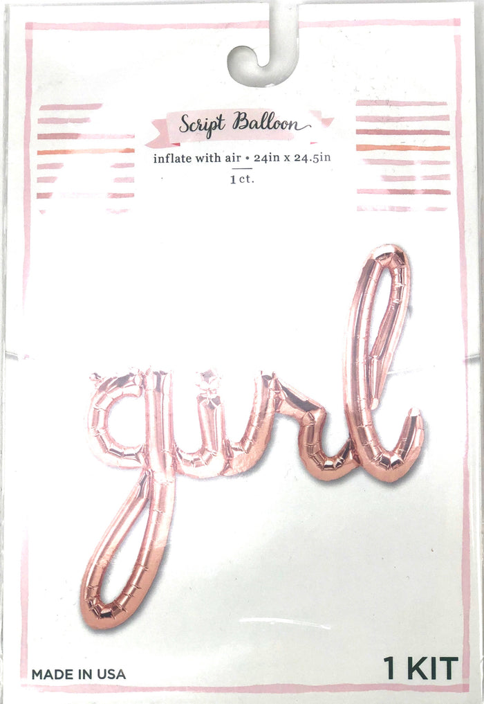 Rose Gold Girl Balloon