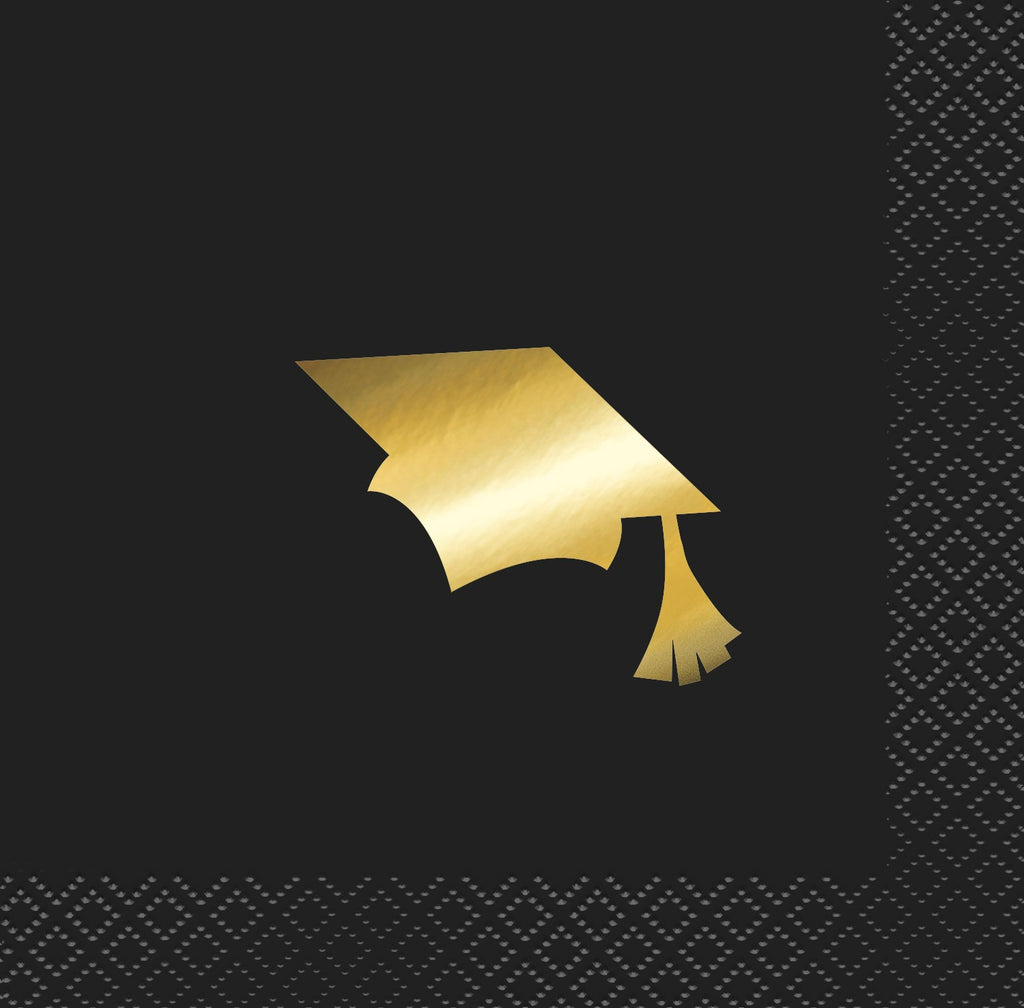 GOLD GRADUATION CAP NAPKIN, high quality napkins