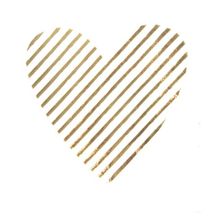 METALLIC GOLD HEART BEVERAGE NAPKIN