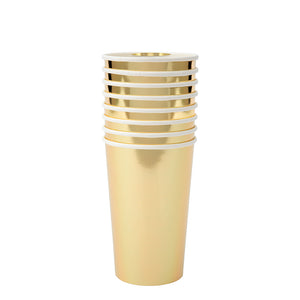 Gold Simply Solids Highball Cup
