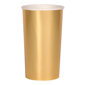 METALLIC GOLD PAPER HIGHBALL CUP