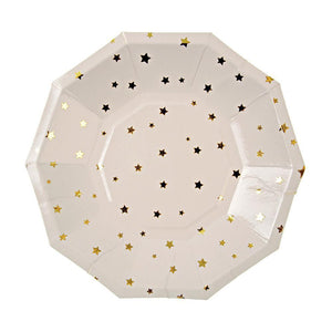 Gold Star Confetti Plate (Small)