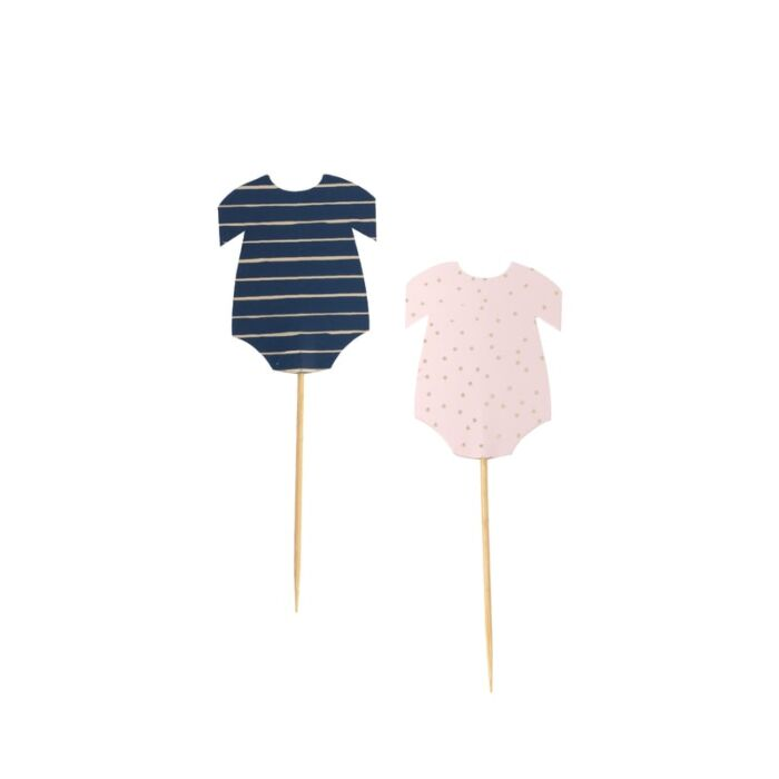 navy and pink, baby onesie cupcake toppers, cute small stuff