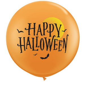 large orange Halloween balloon
