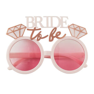 Bride to Be Engagement ring shape pink sunglasses for the bachelorette