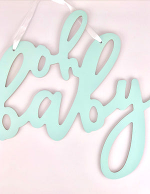 baby shower decor sign: oh baby