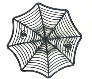 black plastic spider web snack bowl  | halloween party