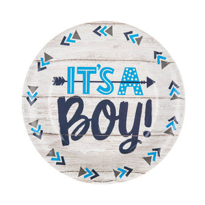 BLUE DESSERT PLATE, IT 's A BOY