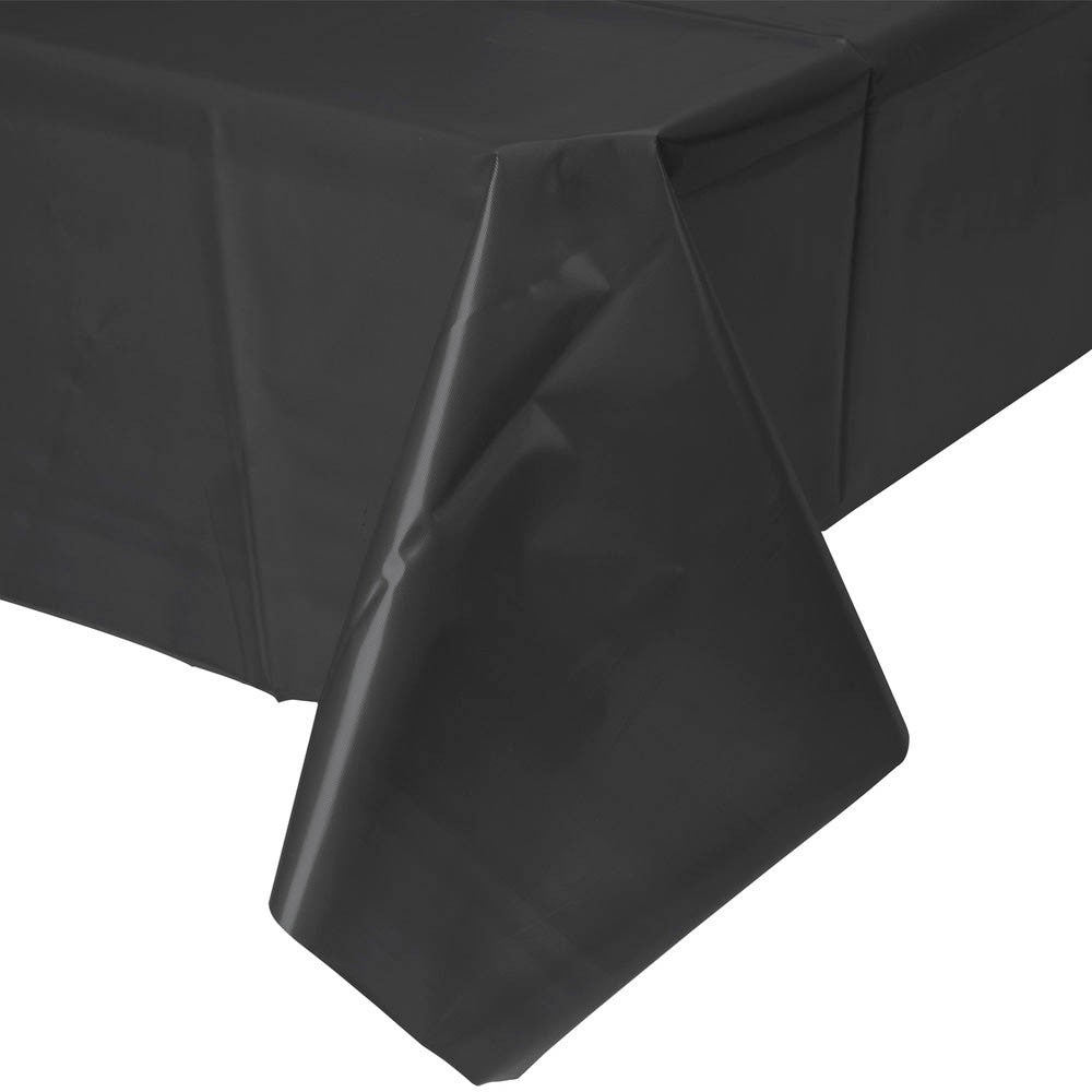 black plastic party disposable tablecloth