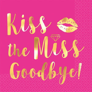 Kiss the Miss Goodbye Beverage  Napkin