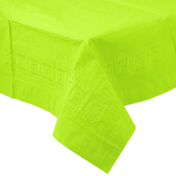 Solid Bright Green Paper Tablecloth