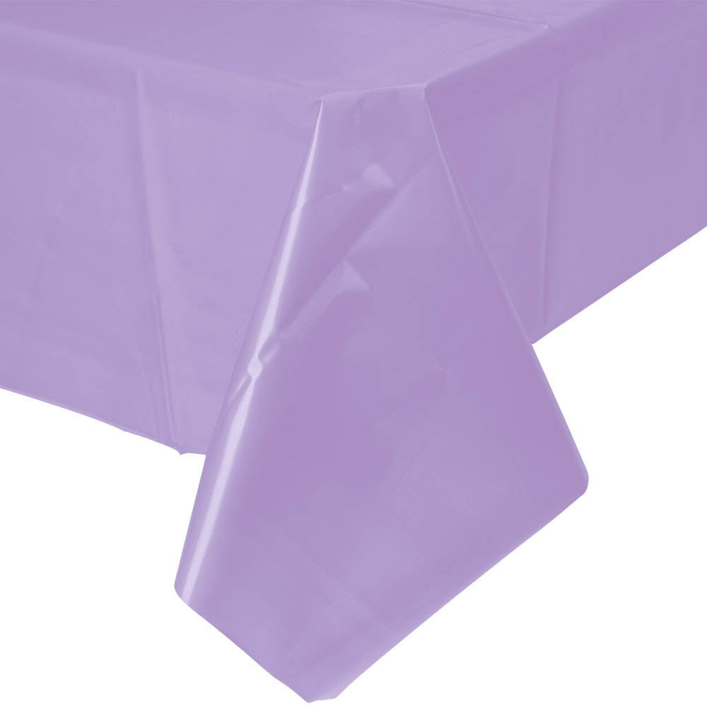 Solid Lavender Plastic Tablecloth