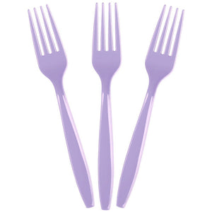 solid lavender forks_birthdays_party supplies_sprinkles & confetti