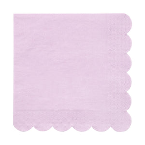 purple scalloped edge napkin