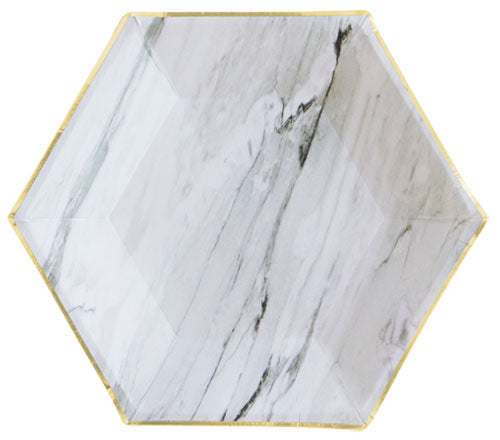 White Marble Small Plates