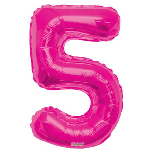 "34"" #5 Pink Foil Number Balloon"