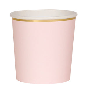 pink and gold paper tumbler cups