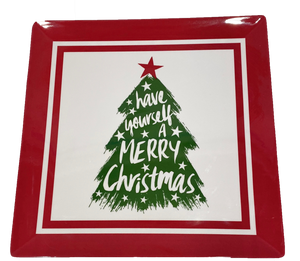 Christmas Tree Square Serving Tray