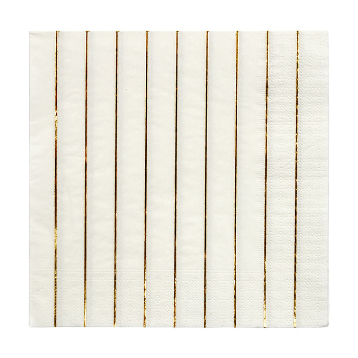 Gold Stripe Simply Solids Napkin