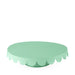 mint green scalloped cake stand