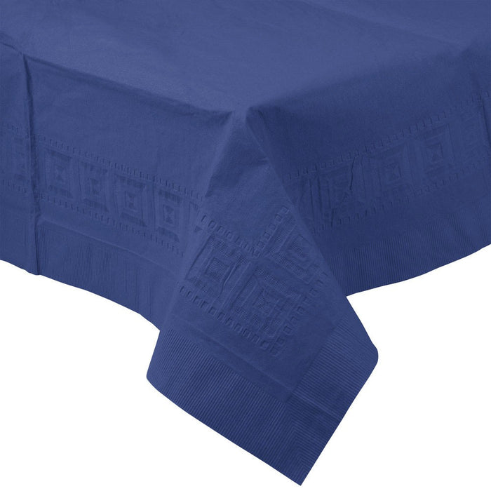 Solid Navy Blue Paper Tablecloth