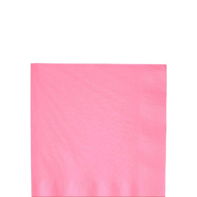 Solid light pink beverage napkins | party supplies