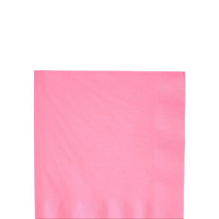 Solid Pink Beverage Napkins