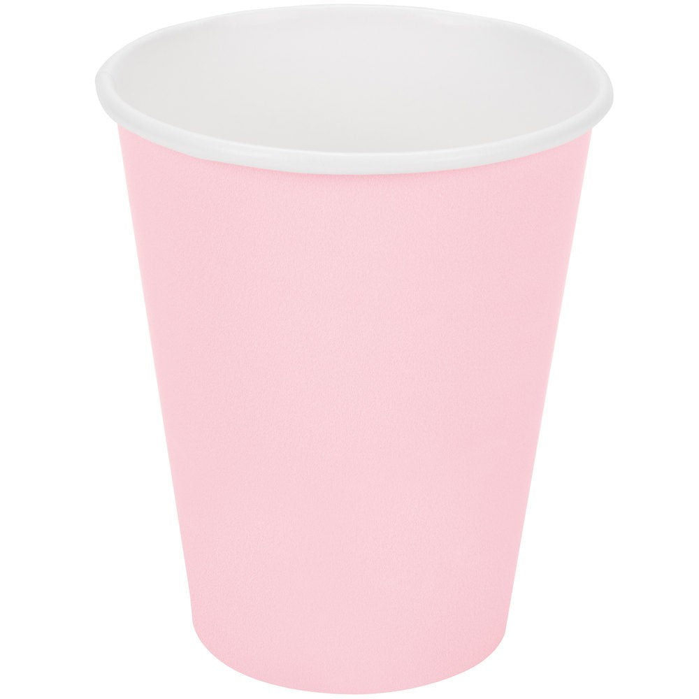 Solid light pink paper cups | party supplies