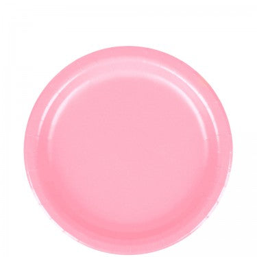 light pink party paper plates