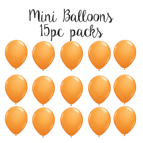 "5"" Mini Balloon 15pc Pack Orange"