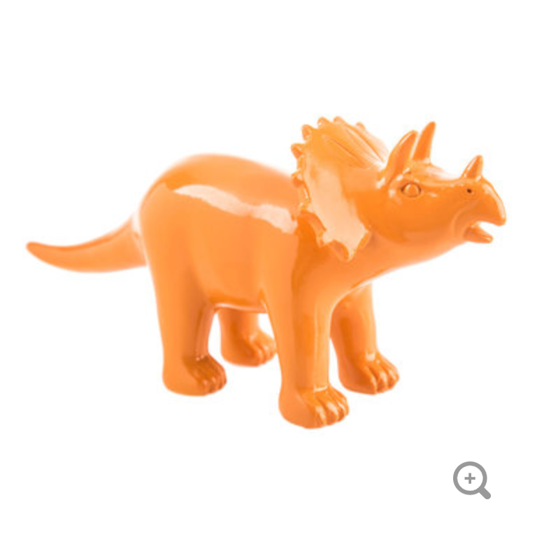 orange dinosaur party decor