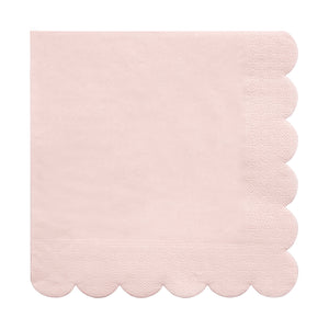 pink scalloped edge napkin