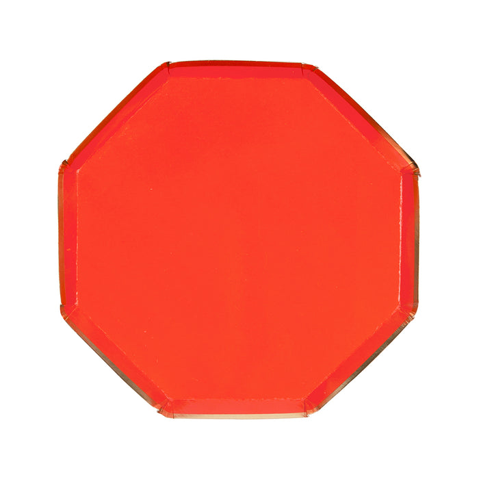 Red Simply Solids Small Plate