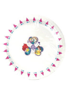 cute and colorful party plate, DISNEY PRINCESS PARTY PLATE