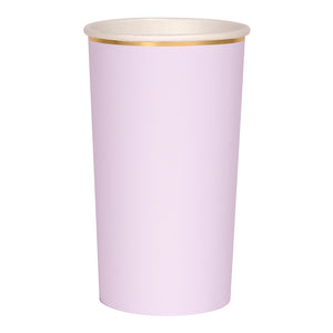 purple and gold paper highball cup