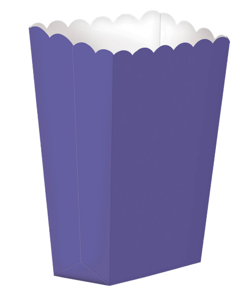 Purple Popcorn Snack Boxes, party suppliers